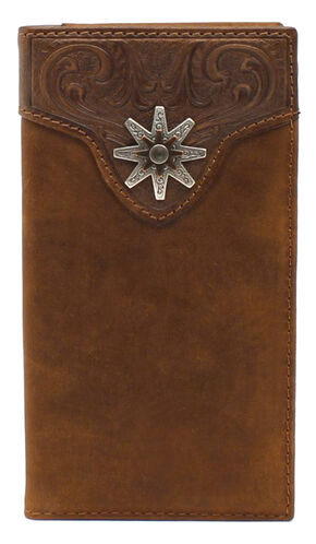 Nocona Spur Concho Rodeo Wallet, Med Brown, hi-res