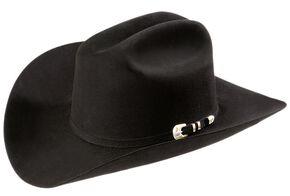 Larry Mahan Superior 500X Fur Felt Western Hat, Black, hi-res