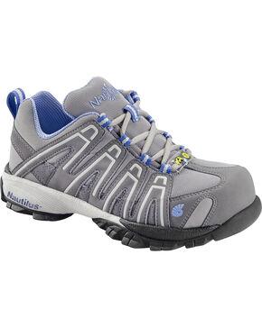 Nautilus Women's Blue Grey Lightweight SD Athletic Work Shoes - Soft Toe , Grey, hi-res