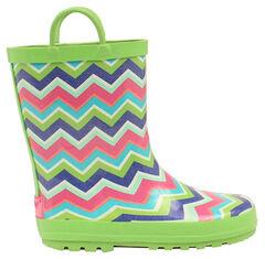 Blazin Roxx Girl's Charlsie Chevron Rain Boots - Round Toe, , hi-res