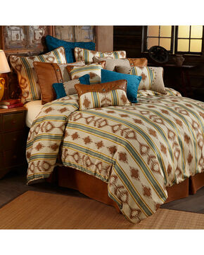 HiEnd Accents Alamosa Five-Piece Super King Bedding Set, Multi, hi-res