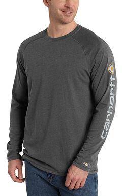 Carhartt Men's Force Cotton Delmont Long Sleeve Graphic T-Shirt, , hi-res