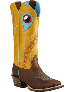Ariat Mustard Desperado Cowgirl Boots - Square Toe , , hi-res
