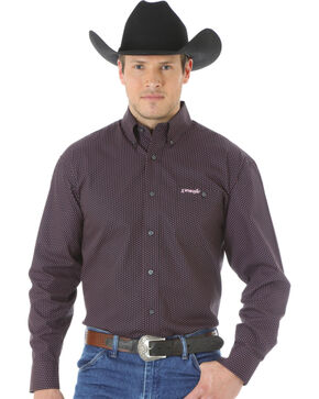 Wrangler Tough Enough to Wear Pink Men's Polka Dot Shirt, Black, hi-res