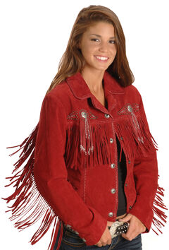Scully Fringed Suede Leather Jacket, , hi-res