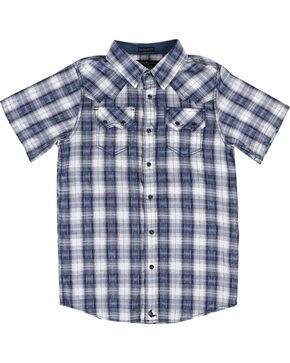 Cody James Boys' Rattler Short Sleeve Shirt, Navy, hi-res