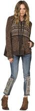 Miss Me Cool Rider Hooded Zip Jacket, Brown, hi-res