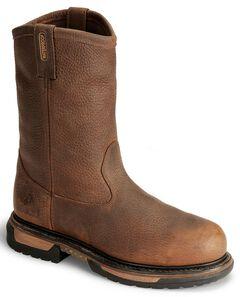 "Rocky 10"" Ride Waterproof Wellington Work Boots - Steel Toe, , hi-res"