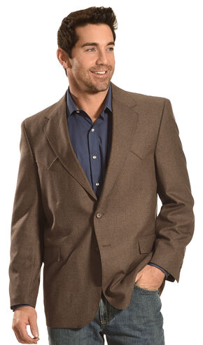 Circle S Men's Brown Fort Worth Sport Coat - Big & Tall , Brown, hi-res