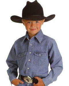 Wrangler Boys' Denim Shirt - 2-20, , hi-res