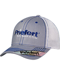 Priefert Men's Grey Adjustable Baseball Cap , , hi-res