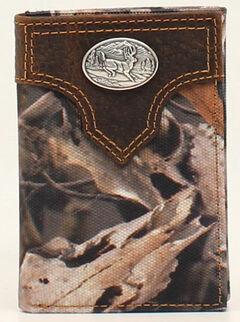 Ariat Camo Deer Concho Tri-Fold Wallet, , hi-res