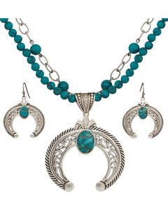 Montana Silversmiths Squash Blossom Statement Jewelry Set, , hi-res