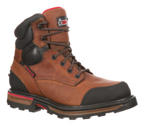 Rocky Elements Dirt Waterproof Work Boots - Steel Toe, Brown, hi-res