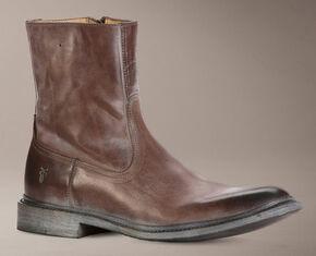 Frye Men's James Inside Zip Boots, Brown, hi-res