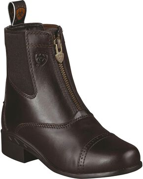 Ariat Youth Boys' Devon Ankle Riding Boots, Chocolate, hi-res
