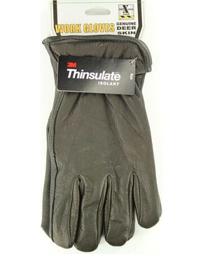 HD Xtreme Fleece Lined Deerskin Gloves, Black, hi-res