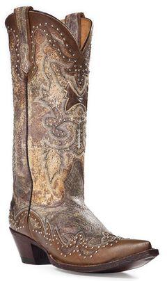 Johnny Ringo Sagrada Studded Cowgirl Boots - Snip Toe, , hi-res