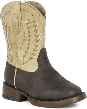 Roper Toddler Boys' Billy Cowboy Boots - Square Toe, Brown, hi-res