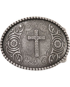 Montana Silversmiths Antiqued Cross Buckle, , hi-res