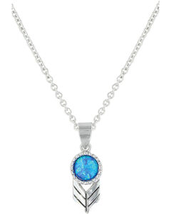 Montana Silversmiths Women's Perfect Sky Flower Necklace , , hi-res