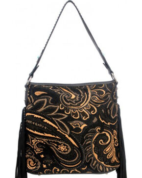 Montana West Western Aztec Collection Black Handbag, Black, hi-res