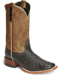 Nocona Men's Full Quill Ostrich Boots - Square Toe, , hi-res