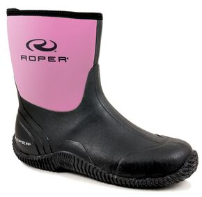 Roper Neoprene Barnyard Boots, Pink, hi-res