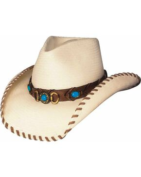 Bullhide Best of the West Shantung Straw Cowgirl Hat, Natural, hi-res