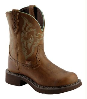 Justin Gypsy Tan Jaguar Cowgirl Boots - Round Toe, Tan, hi-res