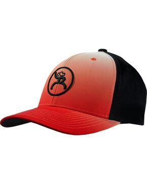 Hooey Men's Red Bora Ombre Snapback Baseball Cap , Red, hi-res