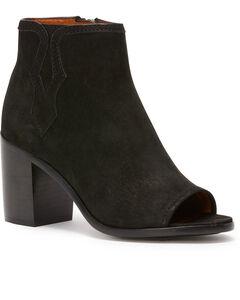 Frye Women's Black Danica Peep Booties - Round Toe , Black, hi-res