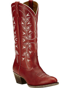 Ariat Desert Holly Rosy Red Cowgirl Boots - Medium Toe, , hi-res