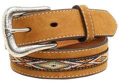 Ariat Boys' Ribbon Overlay Belt, , hi-res