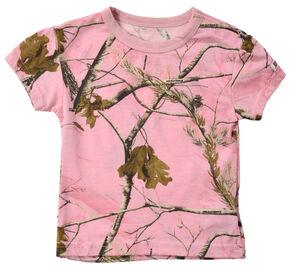 Infant Girls' Pink Realtree Tee, Pink, hi-res