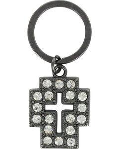Shyanne Women's Rhinestone Cross Key Chain , , hi-res