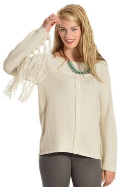 Others Follow Mila Fringe Sleeve Sweater, , hi-res
