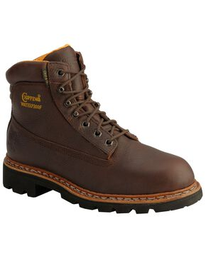"Chippewa Briar Waterproof & Insulated 6"" Lace-Up Work Boots - Round Toe, Briar, hi-res"