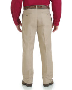 Wrangler Men's Riata Flat Front Relaxed Casual Pants, , hi-res