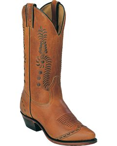 Boulet Leaf Cowgirl Boots - Pointed Toe, , hi-res