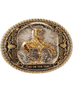Montana Silversmiths End Of The Trail Belt Buckle, , hi-res