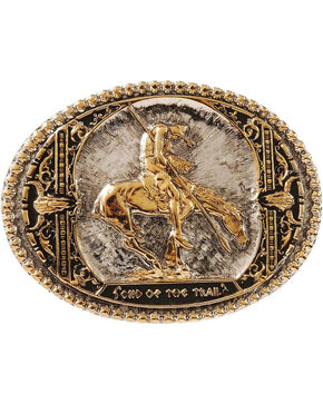 Montana Silversmiths End Of The Trail Belt Buckle, Silver, hi-res