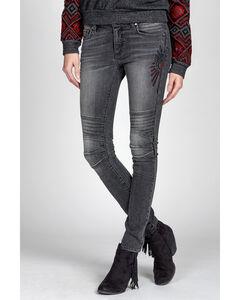 MM Vintage Black Kate Biker Jeans - Skinny Leg, , hi-res