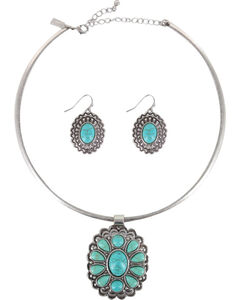 Shyanne Women's Turquoise Filigree Jewelry Set , , hi-res