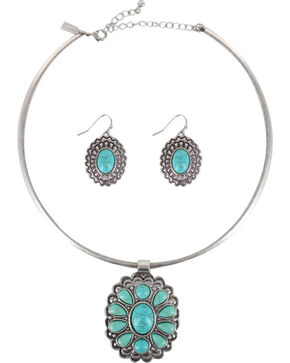Shyanne Women's Turquoise Filigree Jewelry Set , Turquoise, hi-res