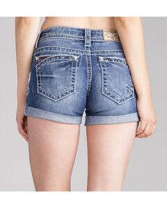 Miss Me Women's Stud Pocket Rolled Cuff Shorts , , hi-res