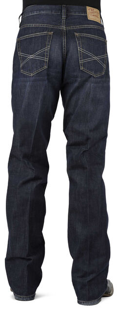 Stetson 1312 Relaxed Fit Jeans with Flag Detail - Boot Cut, , hi-res