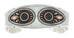 Montana Silversmiths Sunset Prairie Clover Cuff Bracelet   , Silver, hi-res