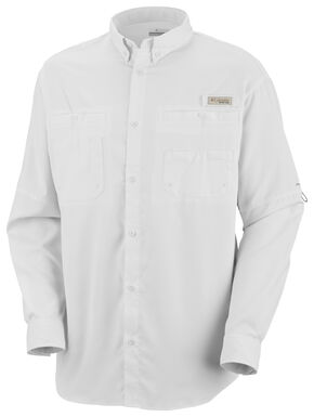 Columbia Men's PFG Tamiami II Long Sleeve Shirt, White, hi-res