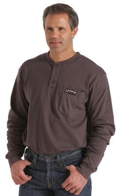 Cinch WRX Flame-Resistant Long Sleeve Henley Shirt, , hi-res